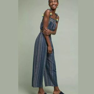 New Anthropologie Laia Naomi Striped Jumpsuit